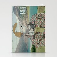 bon iver Stationery Cards featuring Bon Iver. by Lucas Eme A