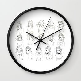Kristen Stewart Sketches Wall Clock