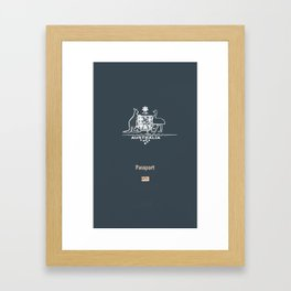 Australian Passport Framed Art Print