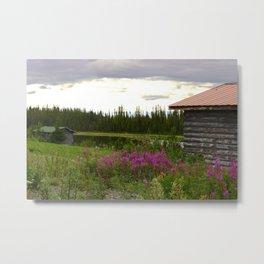 Pioneer Cabin II - Alaska Metal Print