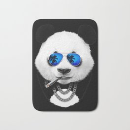 Blue Summer Panda Bath Mat