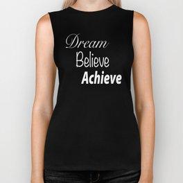 Dream Believe Achieve Ultra Violet Biker Tank