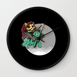 The Rider Of The Apocalypse Wall Clock