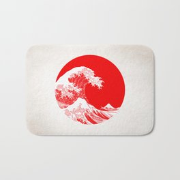 Hokusai great wave of Kanagawa Bath Mat