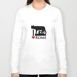 I Love Rome GI Love Rome Graphic Iconraphic Icon Long Sleeve T-shirt