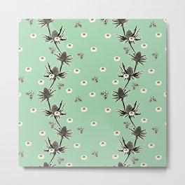 Sea Holly Garden - Sea Foam Metal Print