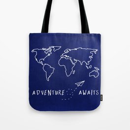 Adventure Map - Navy Blue Tote Bag