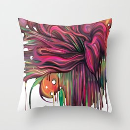 The Corsage- Fantasy Floral  Throw Pillow