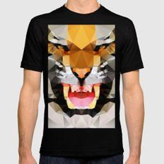 Tiger - Geo Mens Fitted Tee Black LARGE