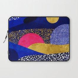 Terrazzo galaxy blue night yellow gold pink Laptop Sleeve