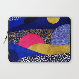 Terrazzo galaxy blue night yellow gold pink Laptop Sleeve