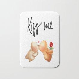 Kiss Me Bears Valentine's Day Gifts Bath Mat