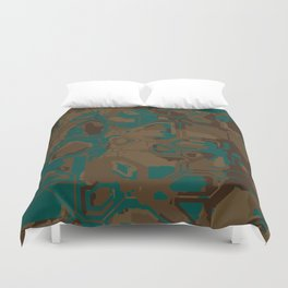 Peacock and Brown Duvet Cover