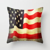 america Throw Pillows featuring America by ThePhotoGuyDarren