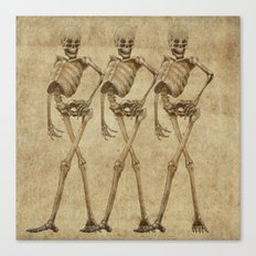 walking skeleton beauties Canvas Print