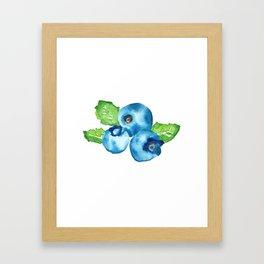 Watercolour Blueberry Framed Art Print