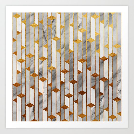 Marble skyscrapers Art Print