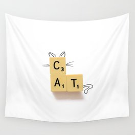 Cat Scrabble Wall Tapestry