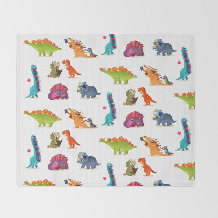 BOOK DINOSAURS Throw Blanket
