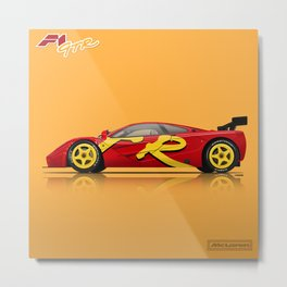 McLaren F1 GTR #10R - 1996 Presentation Livery - Side View Metal Print