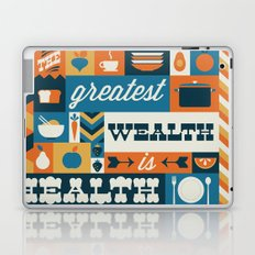 The Greatest Wealth is Health Laptop & iPad Skin