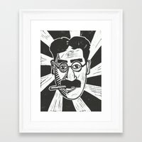 marx Framed Art Prints featuring Groucho Marx by Peter Dunne