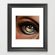 Hazel Eye Illustration Framed Art Print