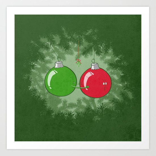 Shiny Balls Art Print