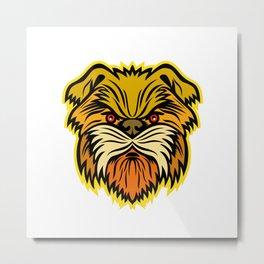 Affenpinscher Monkey Dog Mascot Metal Print