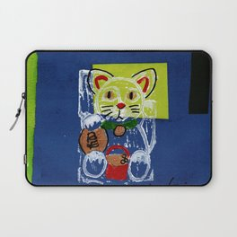 Be Delightfully Treasured Lucky Cat Laptop Sleeve