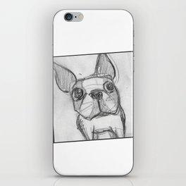 Boston terrier selfie iPhone Skin