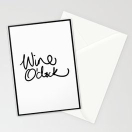 wine O'clock Stationery Cards