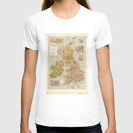 Vintage Map of Great Britain and Ireland, 1947 T-shirt