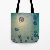 lanterns Tote Bags featuring Lanterns by Leandro