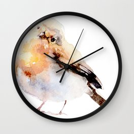 Watercolor Bird Painting Wall Clock