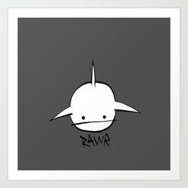 minima - hover shark Art Print