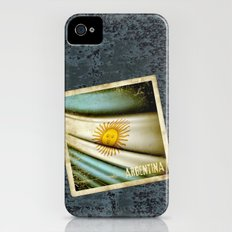 Grunge sticker of Argentina flag iPhone (4, 4s) Slim Case