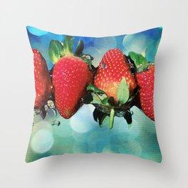 Berry Bokeh Throw Pillow
