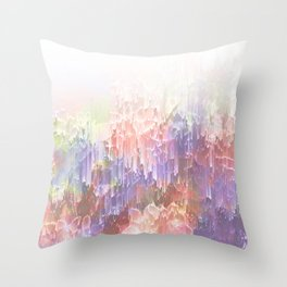Frozen Magical Nature - Peach and Ultra-Violet Throw Pillow