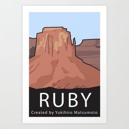 Ruby Programming Landscape poster Art Print
