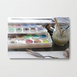 Watercolor Paint Palette Metal Print