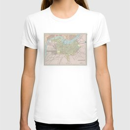 Vintage Map of Louisville KY (1901) T-shirt