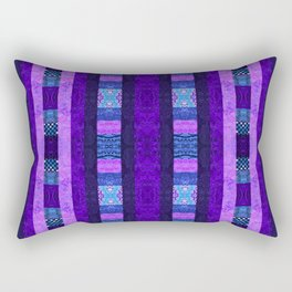 Quilt Top - Deep Purple Rectangular Pillow
