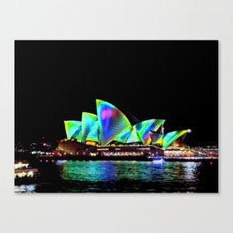 Sydney Opera House Vivid Light Show Canvas Print