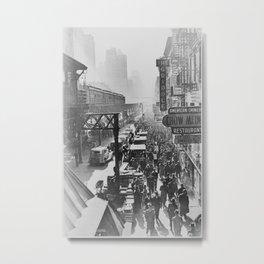Vintage Photograph of 6th Avenue NYC (1940) Metal Print