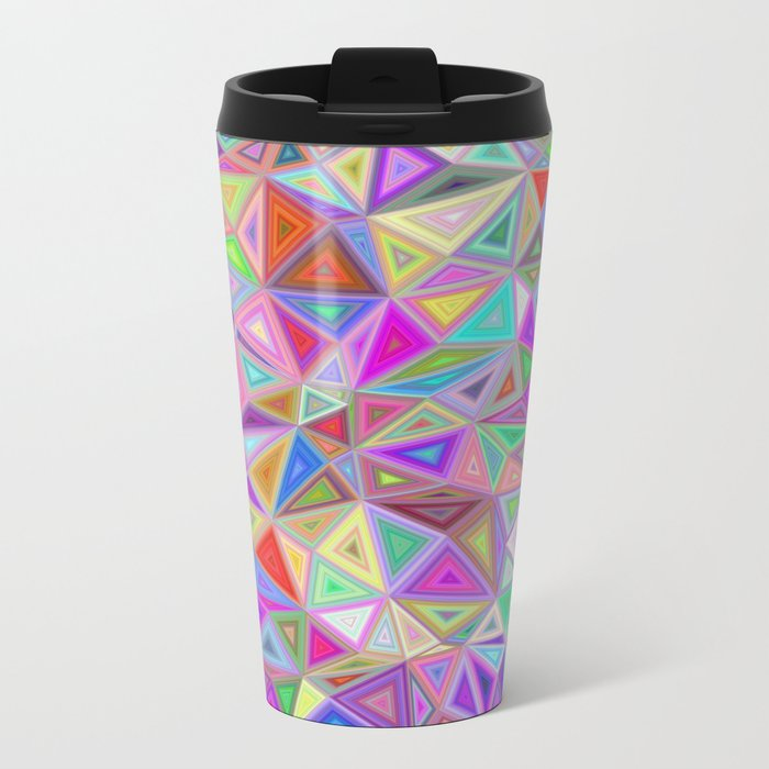 Triangular happiness Metal Travel Mug