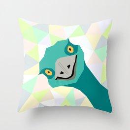Cheeky Emu Throw Pillow