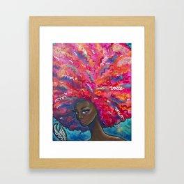 Voice it Girl Framed Art Print