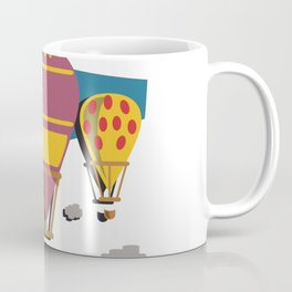 Balloon flight flying in the sky with clouds shirt Coffee Mug