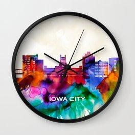 Iowa City Skyline Wall Clock